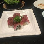 Seared wagyu beef roll