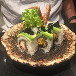 Soft shell crab and avocado roll