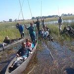 Exploring the Okavango Delta on a canoe one of the inland Delta around the world