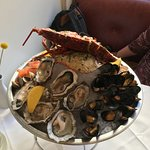 Our cold seafood platter lunch