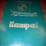 front cover of the Kampai menu