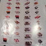 sushi menu page