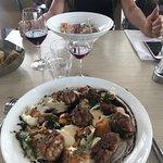 3ème «visite»! Ris de veau à la farine de châtaigne , aussi bon que beau Flan coco ,comme là-ba