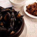 Moules marinières et ses excellents pommes de terre sautées