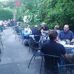 The biergarten is an excellent al fresco option when the weather cooperates.