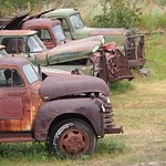 Truck grave yard at the Atlas mine.