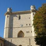La tour de l'Horloge de l'intérieur de l'enceinte