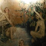 Modest maidens splashing in tropical waters in Christie's celebrated 1920s Des Artistes murals