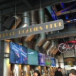 Huge pipes behind the bar