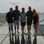 Glass deck floor - 110m above ground