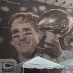 Drew Brees Huge Picture In Champions Square