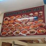 kampong glam cafe menu
