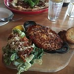 wild boar lasagna and Caesar salad