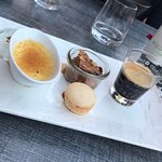 Cafe Gourmand - mini puddings with a coffee