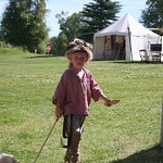 Next generation mountain man plays during Green River Rendezvous Days at the Museum