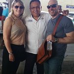 Happy clients being dropped off at Gran Puerto Juarez Ultramar Ferry Dock for Isla Mujeres!