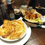 Hot Brown and wings