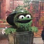 Oscar the Grouch in the Jim Henson wing.