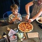 Pepperoni Pizza (no mushrooms) and Mushroom Toast Starter