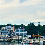 Boaters are welcome to tie up to the dock and enjoy a meal...