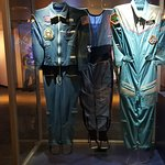 The astronauts' space suits.