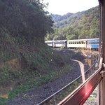 """"""" O trem passa por lugares lindos, em alguns lugares dá até medo, é muito alto."""