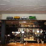 The bar and train