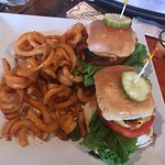 Bacon cheseburger sliders with curly fries!