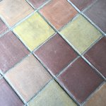Loved this tiled floor