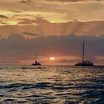 Sunset at Tamarindo beach.