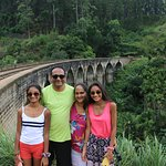 Family pic in front of the bridge