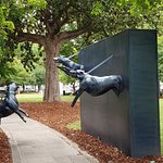 From historic park - sculptures commemorating the Children's march to end segregation and discri