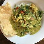 Delicious Thai green chicken curry