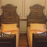 Quaint twin beds!