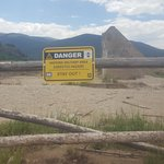 Asbestos contaminated area