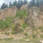 Cliff climbing training area