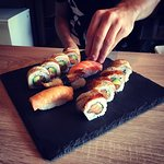 Käsintehtyä sushia