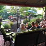 outside seating [adult beverages inside gated area only]