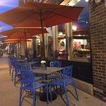 Outdoor seating at The Diplomat
