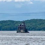 Nice lighthouse in the middle of the Hudson River
