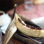 banan with chocolate