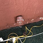 The power outlets and loose wiring