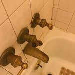 The water tap with missing spigot