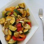 a huge side order of vegetables
