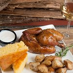 All natural Antibiotic Free smoke roasted chicken.