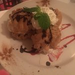 Very dry cream puff! Complained and was deducted from the bill
