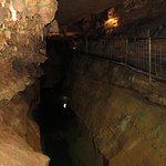 Underground lake and walkway