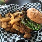 It was a Southern fried chicken breast, jicama slaw, pickles & spicy aioli