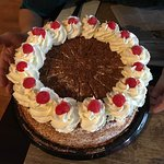 Black Forest Cherry Cake (so good it is our wedding cake)