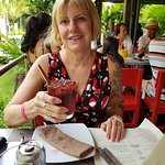 Pam on last dinner out this vacation